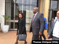 Kasukuwere appearing in court in Harare.