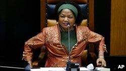 FILE: UNkosazana Baleka Mbete, Cape Town, South Africa, March 11, 2015.
