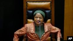 Ketua Parlemen Afrika Selatan Baleka Mbete (Foto: dok.)