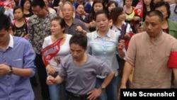 广安市邻水县爆发争取高铁大规模游行(网络图片 )