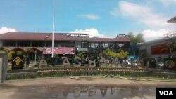 Lapas Banceuy, Bandung, pasca kerusuhan, Sabtu pagi, 23 April 2016 (Foto: VOA/Tedja)
