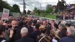 Nekoliko stotina ljudi na protestima ispred VSTV-a