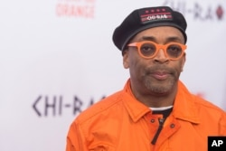 "FILE - Spike Lee attends the premiere of ""Chi-Raq"" at the Ziegfeld Theatre in New York, Dec. 1, 2015."