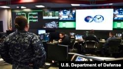 미군 사이버사령부 산하 함대사이버사령부 통제실. (자료사진)