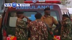 Bodies of policemen killed in weekend ambush in northern Kenya arrive in Nairobi.