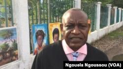 Loamba Moke, président de l'ADHUC, à Brazzaville, le 4 novembre 2016. (VOA/Ngouela Ngoussou)