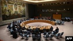 اقوام متحدہ کی سلامتی کونسل کے اجلاس کا ایک منظر، فائل فوٹو