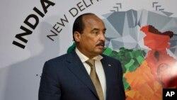 Le président mauritanien Mohamed Ould Abdel Aziz à New Delhi, en Inde, 28 octobre 2015.