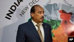 Le président Mohamed Ould Abdel Aziz de la Mauritanie à New Delhi, en Inde, 28 octobre 2015.