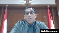 Deputi Bidang Koordinasi Politik Dalam Negeri Kemenko Polhukam, Purnomo Sidi (Screenshot).