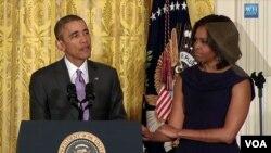 ولسمشر اوباما او میرمن اوباما د «پریږدئ چې نجونې زده کړې وکړي» په نامه د نجونو د تعلیم نوي پروګرام اعلان کړ.