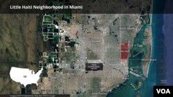 Kat jewografik ki montre Little Haiti ou T-Ayiti nan Miami, Florid.