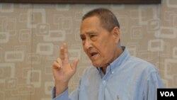 已故中共总书记赵紫阳的政治秘书、85岁的鲍彤 (高瑜提供)