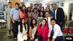 VOA Deewa staff at their 10th anniversary celebration