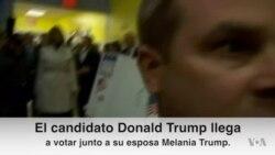 Donald Trump vota junto a su esposa Melania