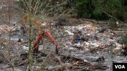 Nhà cửa bị phá hủy trong vụ sạt lở đất ở Seatle, bang Washington