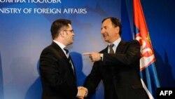 Jeremić i Fratini tokom susreta u Beogradu
