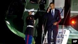 2013年9月6号美国总统奥巴马回到华盛顿白宫