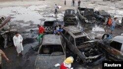 Mesto bombaških napada u Iraku