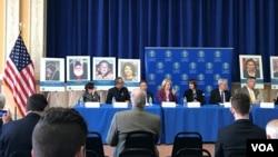 Các diễn giả tham dự Hội luận về 'Tù nhân Lương tâm' do USCIRF tổ chức tại Washington DC, ngày 18/4/2018.