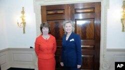 Hillary Clinton i Catherine Ashton nakon sastanka u Državnom tajništvu
