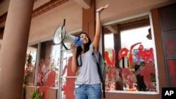 Laura Zúñiga Cáceres en foto de archivo tomada en Honduras en abril 5 de 2016.