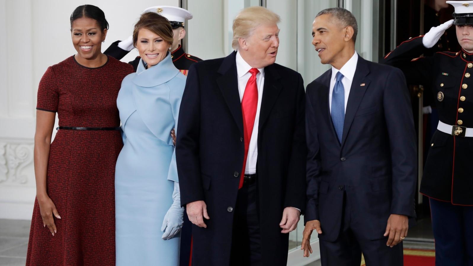 MUNDO   Los Obama y los Trump juntos en la Casa Blanca