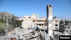Ostaci zgrade uništene u izraelskom bombardovanju Gaze, 18. maja 2021.