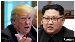 Shugaba Trump Da Shugaba Kim Jong Un