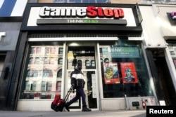 Tienda de GameStop en el distrito de Manhattan de la ciudad de Nueva York, EE.UU., el 29 de enero de 2021.