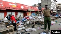 Ikibanza c'isoko amabombe yaturikiyemwo, i Nairobi, muri Kenya