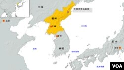 朝鲜核试验基地地理位置图