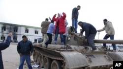 在班加西城安全部队驻地