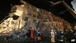 Ruševine posle zemljotresa, Tajvan 6. februar 2016.