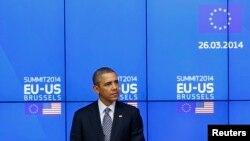 美国总统奥巴马参观美国-欧盟峰会