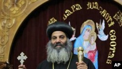 Bishop Barnaba El Soryany is seen at the Coptic church in Rome, 05 Jan 2011.