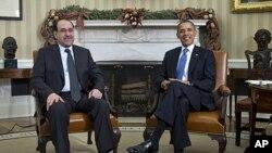 美國總統奧巴馬和伊拉克總理馬利基星期一在白宮會晤