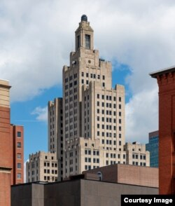 The 1928 Industrial Trust Company Building in Providence, Rhode Island, is under threat due to deterioration after six years of vacancy. (Warren Jagger)