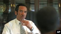 FILE - Botswana's President Ian Khama.