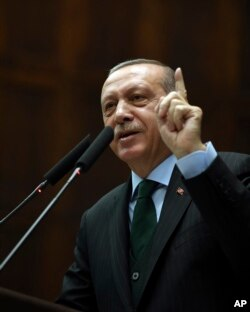 "FILE - Turkey's President Recep Tayyip Erdogan says U.S. recognition of Jerusalem as Israel's capital is a ""red line"" for Muslims and also said such a step would lead Turkey to cut off all diplomatic ties with Israel."