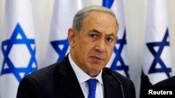 以色列总理内塔尼亚胡在11月10日的内阁特别会议上