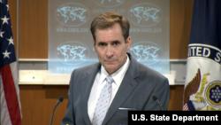 美国国务院发言人柯比7月7日主持例行记者会(美国国务院提供)