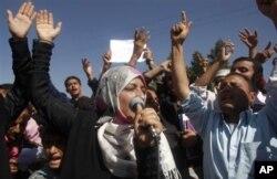 Une manifestation d'étudiants à Sana'a