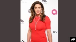 FILE - Caitlyn Jenner arrives at a Oscar Viewing Party in West Hollywood, Calif., Feb. 28, 2016. Gender confirmation surgeries have jumped by 20 percent in the U.S.