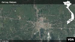 Cai Lậy trên bản đồ Việt Nam.