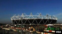 Stadion utama Olimpiade London2012, seperti yang terlihat pada awal tahun lalu (foto:dok).