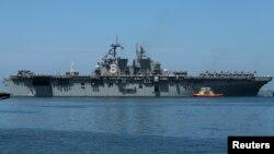 미 해군 강습 상륙함 아메리카 호.
