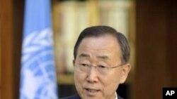 聯合國秘書長潘基文(圖)在報告中表示緬甸政府為實現一個更具包容性的全國對話創造機會。