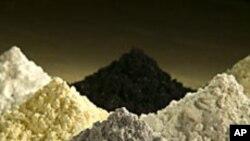 幾種稀土氧化物(資料圖片)