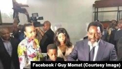 Perezida wa Congo Joseph Kabila na madamu wiwe bariko baratora igenekerezo rya 30/12/2018